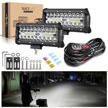 NAOEVO 7 Inch 12V 24V LED Bar Off Road 4x4 Running Light 240W Fog Lamp Spot Flood Beam for Niva Truck ATV Lighting Accessories