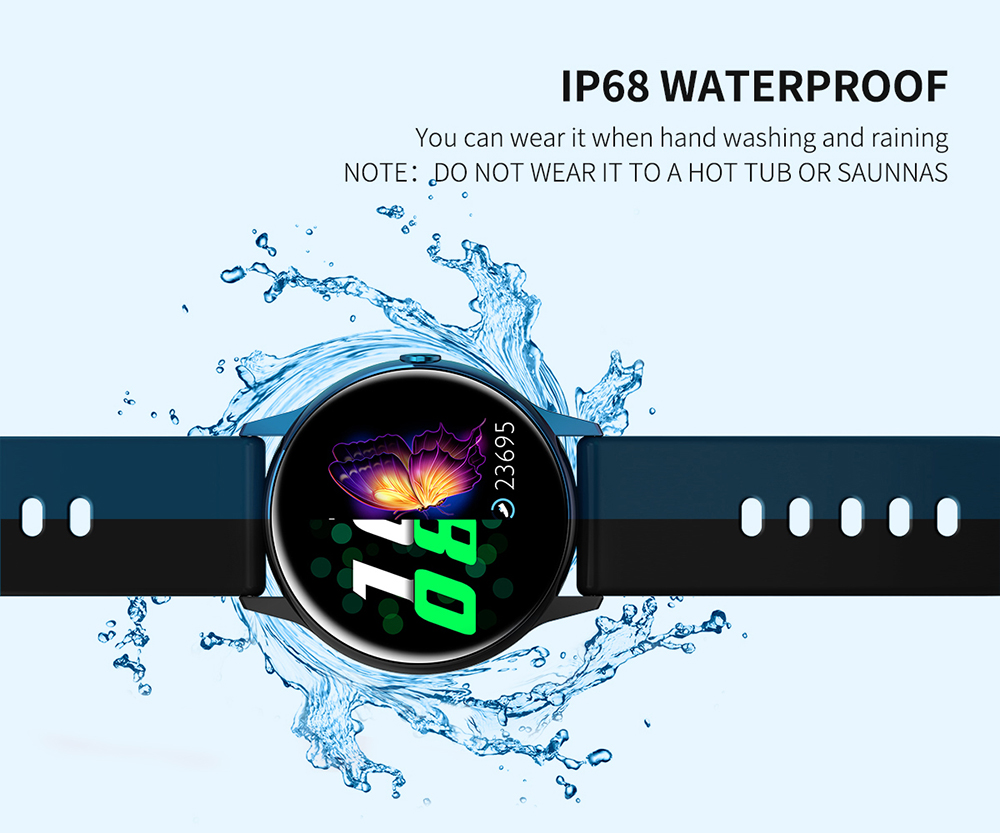 Women IP68 Waterproof Smart Watch for iPhone xiaomi LG with Bluetooth and Heart Rate Monitor Fitness Tracker 17