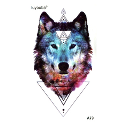 Wolf Temporary Tattoo Sticker Fake Tattoo Body Art Henna Tatoo Stickers Tattoo waterproof tattoo Men