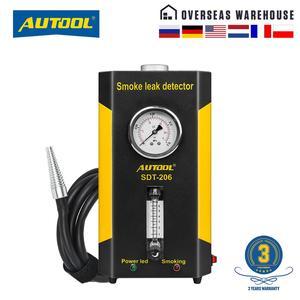 AUTOOL SDT206 автомобильный детектор утечки дыма автомобильный EVAP тестер утечки локатор Авто Диагностический генератор воздухозаборника мочево...