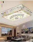 Lámpara LED de techo de cristal moderna lámparas RGB regulable 220V APP Bluetooth y altavoz de música lámpara inteligente colorida de la sala de estar - 4
