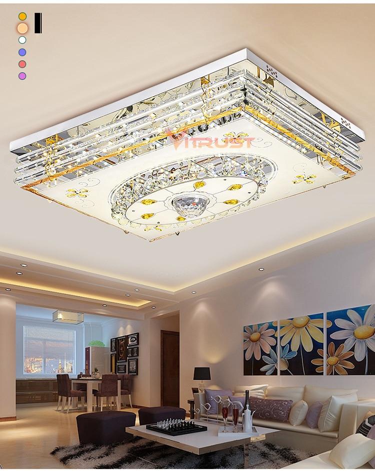 Mordern LED Luce di Soffitto di Cristallo Lampade RGB Dimmable 220V APP Bluetooth e Altoparlante di Musica Colorato Camera Da Letto soggiorno Smart lampada - 4