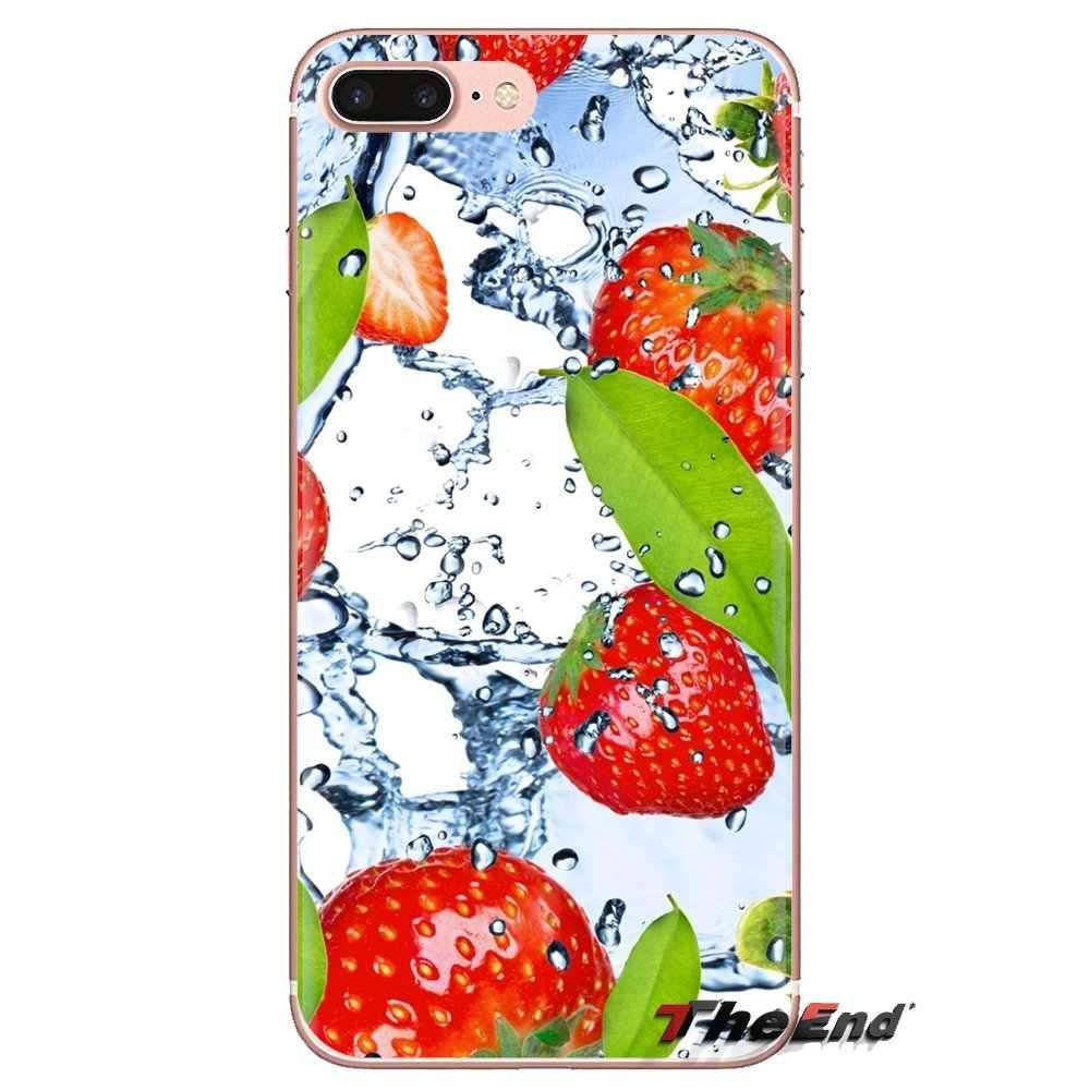 Gıda duvar kağıdı Berry şeffaf tpu deri kılıf için Xiaomi Mi3 Samsung A10 A30 A40 A50 A60 A70 Galaxy S2 not 2 büyük çekirdek başbakan