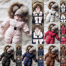 Winter Infant Baby Set Baby Boy Girl Romper Jacket Hooded Jumpsuit Warm Thick Coat Outfit baby girl christmas clothes 9.24 brand baby infant girls fur winter warm coat 2018 cloak jacket thick warm clothes baby girl cute hooded long sleeve coats jacket