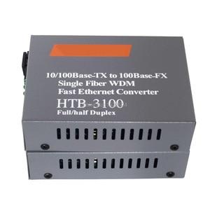 Image 3 - Htb 3100ab Optical Fiber Media Converter Fiber Transceiver Single Fiber Converter 25km SC 10/100M Singlemode Single Fiber