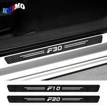 4pcs Carbon Fiber Car Sticker Decals For BMW F01 F02 F07 F10 F11 F12 F18 F20 F30 F31 F32 F33 F34 F35 F45 F46 F82 F85 Accessories