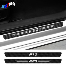 4pcs Carbon Fiber Car Sticker Decals For BMW F01 F02 F07 F10 F11 F12 F18 F20 F30 F31 F32 F33 F34 F35 F45 F46 F82 F85 Accessories