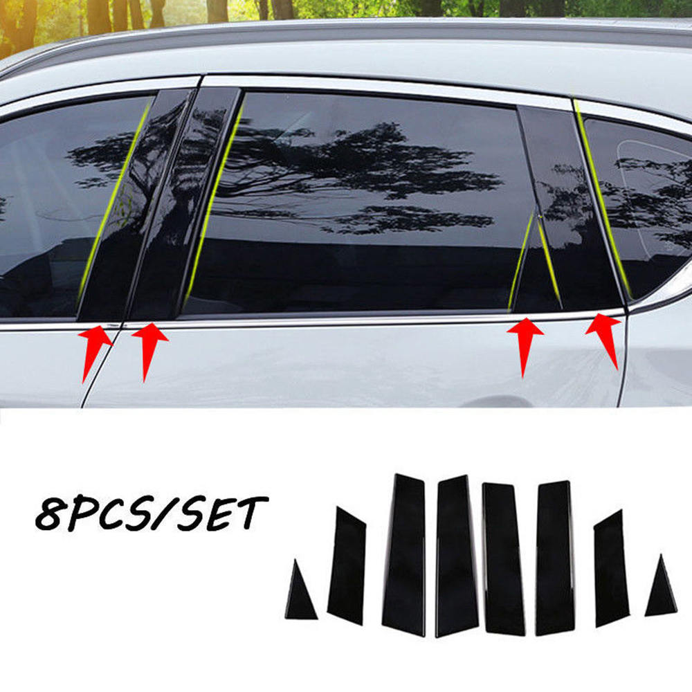 8pcs Auto Mirror Window Pillar Posts BC Column Car Protective Sticker Car-Styling For <font><b>Nissan</b></font> <font><b>Qashqai</b></font> <font><b>2016</b></font> 2017 2018 <font><b>accessories</b></font> image