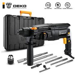DEKO GJ181 220V 26mm 4 Functions AC Electric Rotary Hammer with BMC and 5pcs Accessories Impact Drill Power Drill Electric Drill