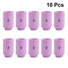 WINOMO 10pcs Welding Machine Porcelain Mouth Tip Ceramic Nozzle Alumina Cups  Welding Components For 54N16/13N12