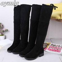 Женские повседневные ботинки с круглым носком однотонные теплые