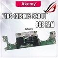 Материнская плата LS710 15238-1 для lenovo Ideapad 710S-13ISK xiaoxin air 13  материнская плата для ноутбука  I5-6200 процессор  8 ГБ  протестированная оригинал