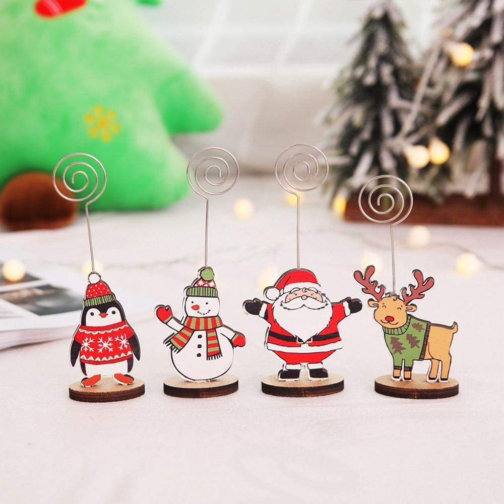 Christmas Decorations For Home 2019 Creative Christmas Business Card Holder Message Folder Photo Clip Christmas Gift