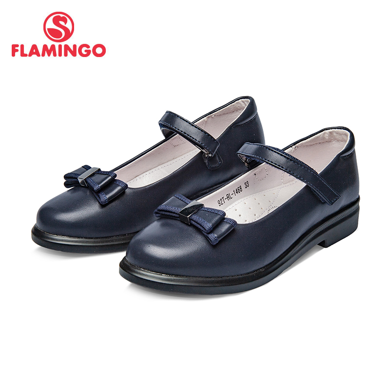 School shoes Flamingo 92T-RL-1468 shoes for girls leather insole shoes for children 30-36 # flamingo new children shoes spring
