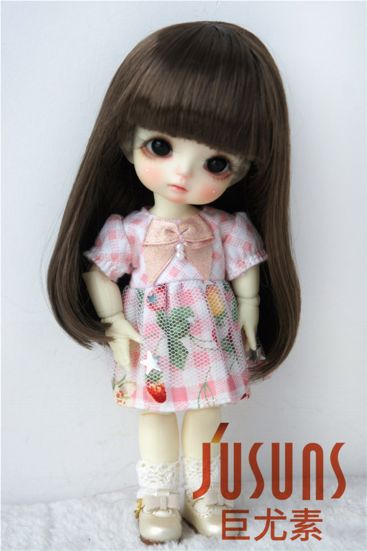 JD319BS 1/8 Cute doll wigs with full bangs size 5-6 inch Fashion Soft synthetic mohair BJD doll wigs doll accessories