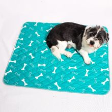 Washable Pet Dog Diaper Mat Bone Printed Puppy Waterproof Absorbent Urine Diaper Mat Dog Car Seat Cover Reusable Training Pad(China)