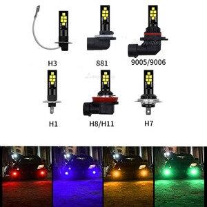 H1 H3 H7 H8 H9 H11 LED Fog Lâmpada 9005 HB3 9006 HB4 881 880 H27 Driving Car Light Lâmpadas LED lâmpadas de Luz de Nevoeiro Da Frente