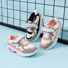 2020 Spring Mix Color Children Sneakers Boys Girls Shoes Casual Loop Hook Non-sl