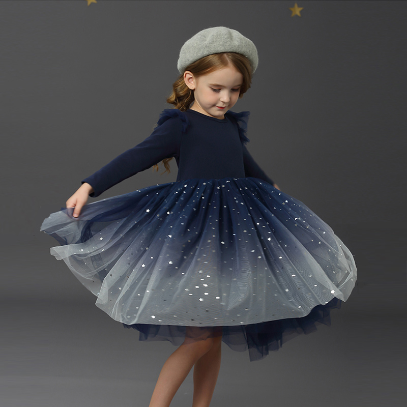 Baby Girls' Dress Long Sleeve Carnival Clothes Party Winter Girl's Autumn Lace Ceremonial Evening dresses for 4 6 8 10 Years