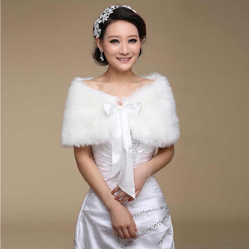 ในสต็อกผ้าคลุมไหล่ห่อแต่งงานอย่างเป็นทางการชุด Cheongsam แต่งงาน Outerwear เจ้าสาว Cape ฤดูใบไม้ร่วงฤดูหนาวแจ็คเก็ต Bolero OJ00165