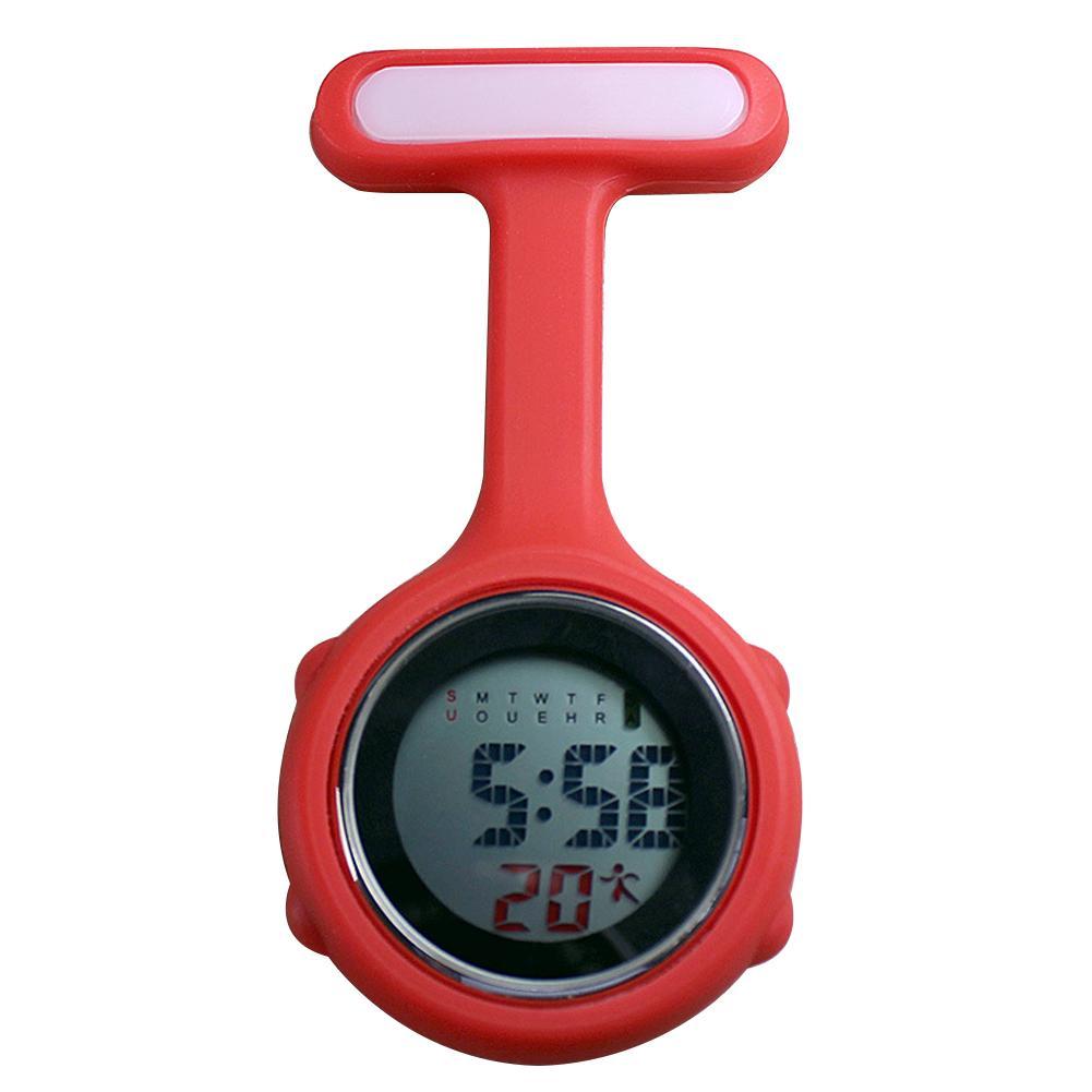 Женские часы с карманами и цифровым циферблатом, модный зажим для Fob, брошь для медсестры, Висячие карманные электрические часы, повседневны...