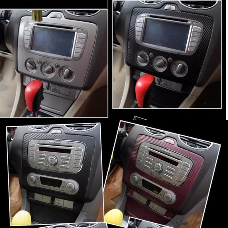 Daefar 3 Colors 3D Carbon Fiber Car AC Console Protector Sticker For Ford Focus 2 2009 2010 2011 2012 2013 Modification