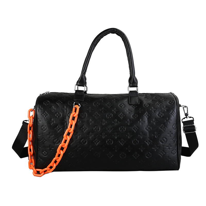 Travel Duffles Women and Men Large PU Leather Hand Luggage Bag Designer Luxury Weekend Carry on Gym Bags for Female Sport Bag