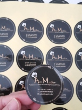 Cosmetic package personalized sticker printing custom logo names printing lable