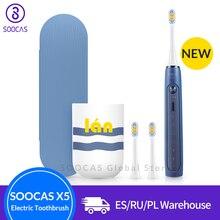 Soocas X5 Atualizado Para Adultos À Prova D Água Ultra sonic sonic escova de Dentes Elétrica escova de Dentes automático Recarregável USB