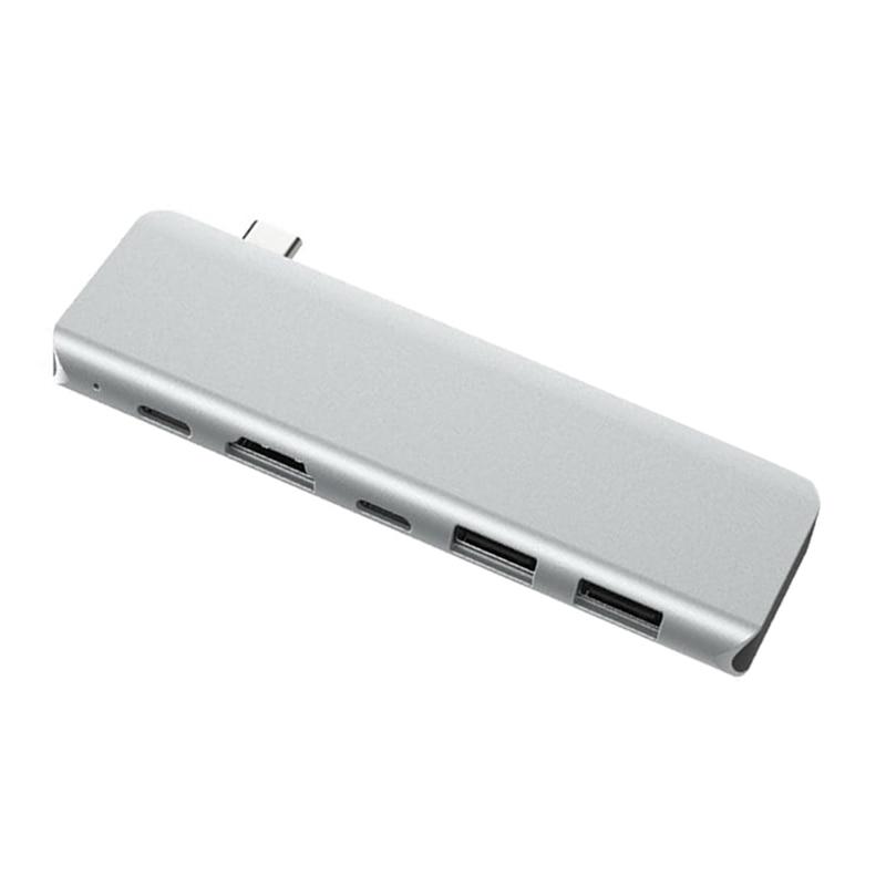 5-In-1 USB C HUB Type-C To Multi Ports USB 3.0 Type C Power Adapter USB-C HUB Splitter Dock