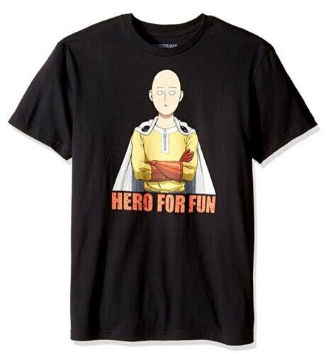 ANIME One Punch Man SAITAMA HERO FOR FUN T-Shirt NWT 100/% Authentic