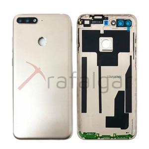 Image 5 - Для Huawei Y6 2018 Задняя крышка батареи задняя дверь корпус чехол для Huawei Y6 Prime 2018 крышка батареи с кнопкой громкости питания