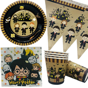 Graduation 2020 Party Decoration Boys Birthday Supplies Magic theme Disposable Tableware Set