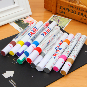 Special Offer Sale For Finecolour 12 Colors Waterproof Car Tyre Tire Tread Rubber Metal Permanent Paint Marker Pen недорого