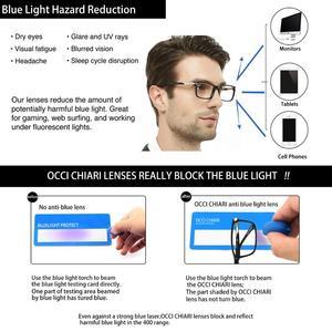 Image 3 - OCCI CHIARI Eyewear Frames Optical Eyeglasses Eyewear Gafas Rectangle Men Black Prescription Glasses Frames Clear Lens W CAPATI