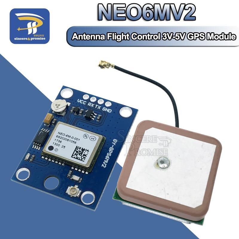 1 conjunto de módulo gps NEO-6M, 1 conjunto de antena eeprom apm2.5 3v-5v rs232 ttl placa para controle de voo arduino