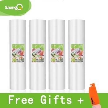 saengQ 5 Rolls/Lot LIFE Kitchen Food Vacuum Bag Storage Bags For Sealer Fresh Long Keeping 12+15+20+25+30cm*500cm - discount item  60% OFF Kitchen Appliances