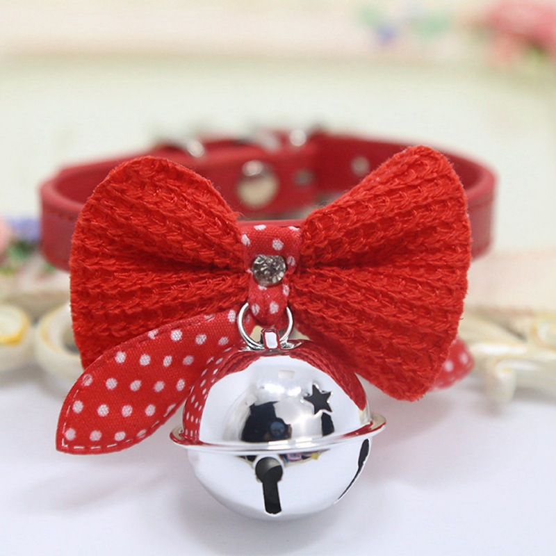Pet Decorations Dog Neck Ring Pet Dog Tie Knot Cat Bow Bell Neck Ring