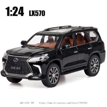 124 coche de juguete de excelente calidad LX570 SUV coche de Metal de juguete de aleación coches de coches y vehículos de juguete juguetes de modelo de coche para niños