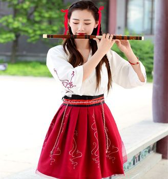 Adult female Chinese style daily Hanfu ladies spring and autumn costumes costumes fairy costumes photo clothing hot style chinese style headdress fairy hanfu super fairy children antique style retro tassel ribbon hairpin hair accessories
