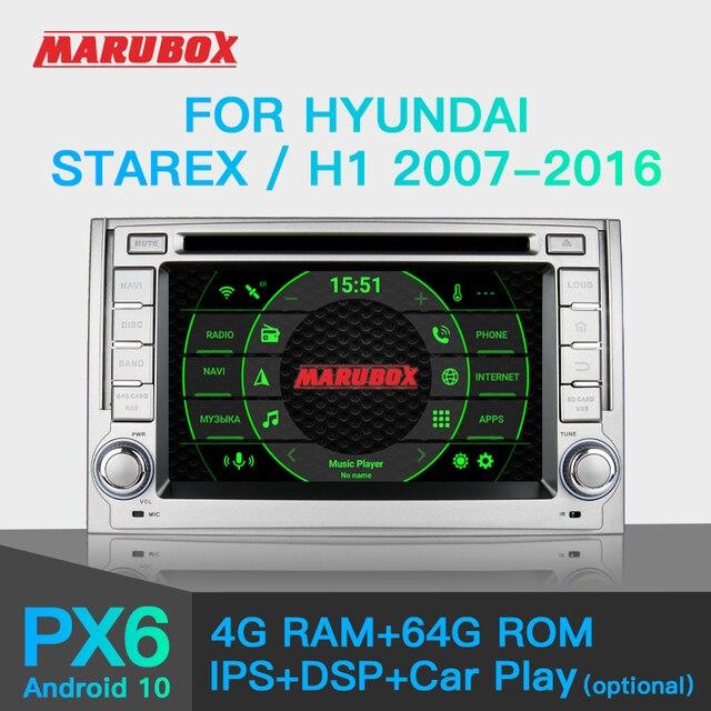 "Marubox PX6 רכב נגן DVD עבור יונדאי Starex, H1 2007 2016, 10 ""מסך IPS עם DSP GPS ניווט Bluetooth אנדרואיד 10 KD6224"