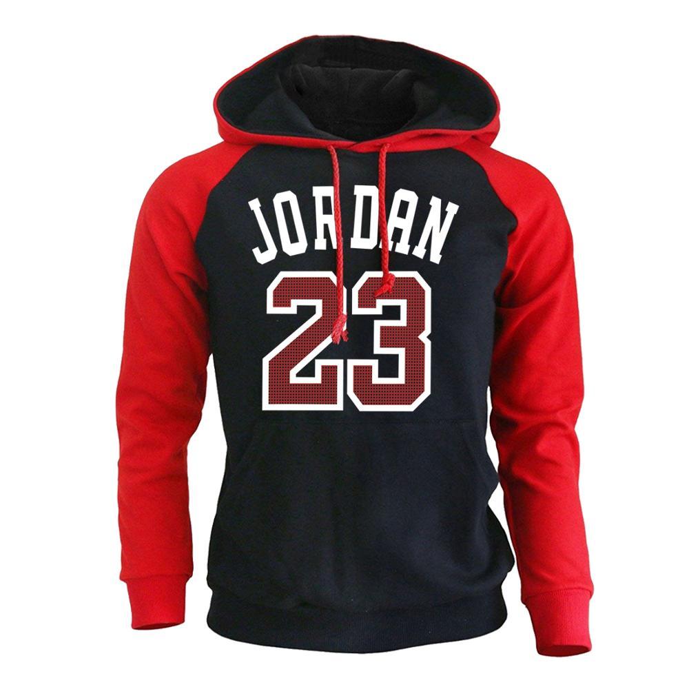 Jordan 23 Men Raglan Hoodie Sweatshirts 2019 Autumn Winter Casual Hoodies Men Streetwear Homme Hoody Mens Sweatshirt Harajuku