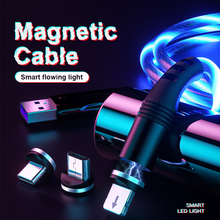 1M LED Magnetic Fast Charging Cable Micro USB Type C Cable USB C Magnet Charge Cable For iPhone 11 Huawei P40 Mobile Phone Wire magnetic usb cable micro usb usb c fast charging mobile phone magnet charger cable for iphone 11 xr huawei p30 microusb u type c