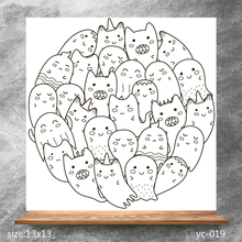 ZhuoAng Cute ghost baby Clear Stamps/Silicone Transparent Seals for DIY scrapbooking photo album Stamps