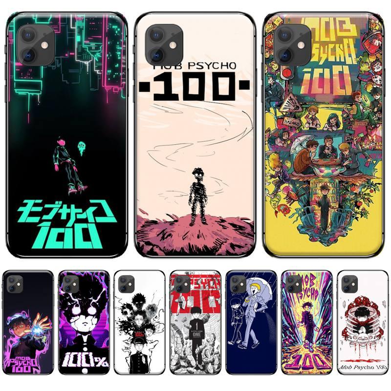 Anime Mob Psycho 100 Soft Silicone Black Phone Case For iphone 4 4s 5 5s 5c se 6 6s 7 8 plus x xs xr 11 pro max