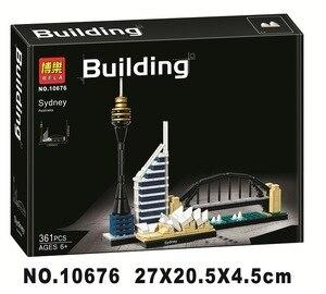 Image 2 - 2018 New BELA 10676 Architecture Sydney Skyline Building Blocks Sets Compatible Lepining City Bricks Classic Model Kids Toys
