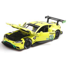 1:32 Aston Martin Le Mans Racing Alloy Car Model Sound and Light Sports collection gift pull-back vehicle