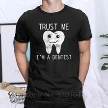 Men's Dental Hygiene T-Shirts Teeth Dentist Dentistry Vintage Round Neck 100% Cotton short sleeve Clothes Tees Graphic T Shirt(China)