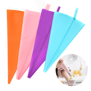 Reusable Silicone Pastry Bag Piping Cake Decorating Tools DIY Cupcake New Pastry Bags Kitchen Cakes Pastry Supplies
