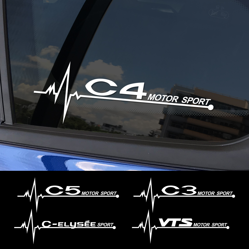 2 шт., забавные наклейки для автомобиля, спортивные виниловые наклейки для Citroen C4 C1 C5 C3 C6 C-ELYSEE VTS, автомобильные аксессуары для декора окон